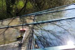 Glasdach-Wintergarten-Reinigung-Moos-Algen-vorher-nachher