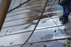 vorher-Dach-Reinigung-Blech-Hochdruckreiniger
